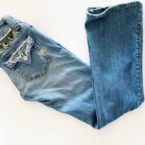 MISS ME JEANS WITH CAMOUFLAGE DETAILS IN POCKETS